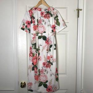 Floral ASOS summer dress open back